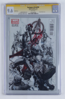 "Stan Lee Signed 2014 ""Avengers"" Issue #24 Limited Sketch Variant Cover Marvel Comic Book (CGC Encapsulated - 9.6) at PristineAuction.com"