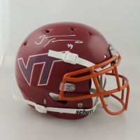 Tremaine Edmunds Signed Virginia Tech Hokies Full-Size Authentic On-Field Helmet (Beckett COA) (See Description) at PristineAuction.com