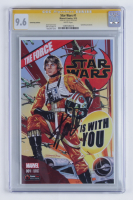 "Stan Lee Signed 2015 ""Star Wars"" Issue #1 GameStop Variant Marvel Comic Book (CGC Encapsulated - 9.6) at PristineAuction.com"