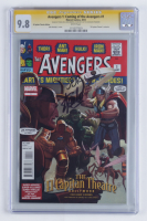 "Stan Lee & John Romita Jr. Signed 2012 ""Avengers 1: Coming of the Avengers"" Issue #1 El Capitan Theatre Exclusive Marvel Comic Book (CGC Encapsulated - 9.8) at PristineAuction.com"