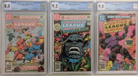 "Set of (3) 1980 ""Justice League of America"" Darkseid Trilogy DC Comic Book Issues Including #183 (CGC 8.0), 184 (CGC 9.2) & 185 (CGC 9.0) at PristineAuction.com"