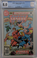 """Set of (3) 1980 """"Justice League of America"""" Darkseid Trilogy DC Comic Book Issues Including #183 (CGC 8.0), 184 (CGC 9.2) & 185 (CGC 9.0) at PristineAuction.com"""