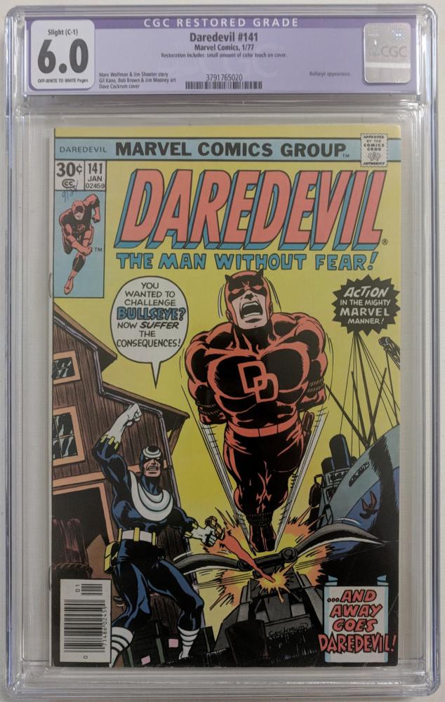 "1977 ""Daredevil"" Issue #141 Marvel Comic Book (CGC Restored 6.0) at PristineAuction.com"