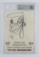 "Roy Williams Signed 5x7 Hand-Drawn ""Pluto"" Sketch (BGS Encapsulated) at PristineAuction.com"