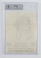 """Roy Williams Signed 5x7 Hand-Drawn """"Pluto"""" Sketch (BGS Encapsulated) at PristineAuction.com"""