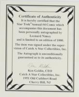 "Leonard Nimoy Signed LE 1993 ""Star Trek Annual"" Issue #4 DC Comic Book (JSA COA) at PristineAuction.com"