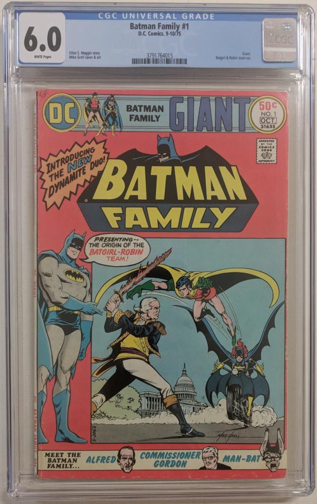 "1975 ""Batman Family"" Issue #1 DC Comic Book (CGC 6.0) at PristineAuction.com"