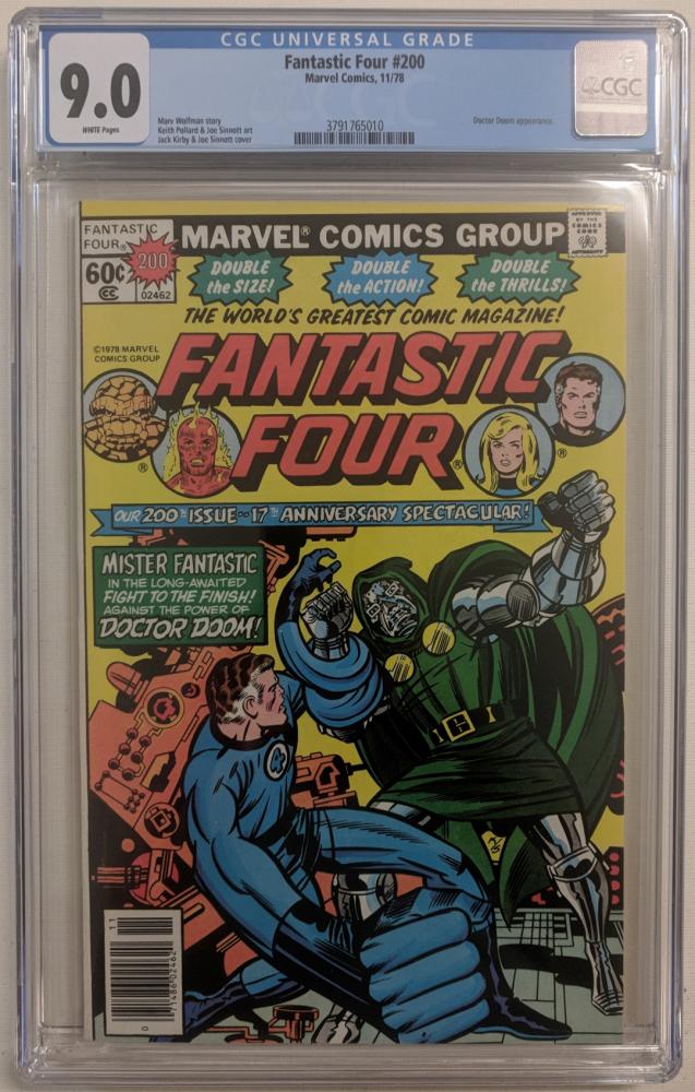 "1978 ""Fantastic Four"" Issue #200 Marvel Comic Book (CGC 9.0) at PristineAuction.com"