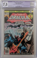 "1976 ""Tomb of Dracula"" Issue #50 Marvel Comic Book (CGC Restored 7.5) at PristineAuction.com"