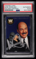 """Mean"" Gene Okerlund Signed 2007 Topps Heritage II Chrome WWE #70 L (PSA Encapsulated) at PristineAuction.com"