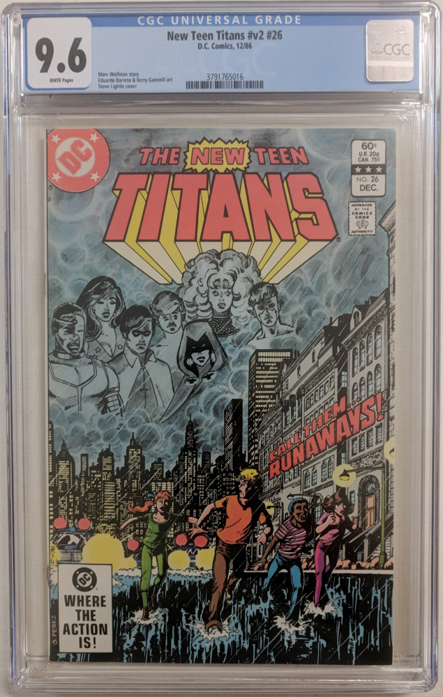 """1986 """"The New Teen Titans"""" Issue #26 DC Comic Book (CGC 9.6) at PristineAuction.com"""