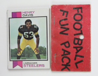 1973 Topps Football Card Fun Pack with (10) Cards (See Description) at PristineAuction.com