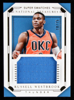Russell Westbrook 2015-16 Panini National Treasures Super Swatches #55 at PristineAuction.com