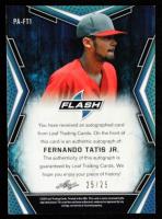 Fernando Tatis Jr. 2020 Leaf Flash Portrait Green #PAFT1 at PristineAuction.com