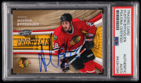 Dustin Byfuglien Signed 2006-07 Upper Deck Power Play #104 RC (PSA Encapsulated) at PristineAuction.com