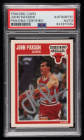 John Paxson Signed 1989-90 Fleer #22 (PSA Encapsulated) at PristineAuction.com