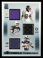 Randy Moss / Jerry Rice / Isaac Bruce 2002 Crown Royale Triple Threads Jerseys #29 at PristineAuction.com
