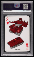 """Peter Cullen Signed """"Transformers"""" 2 of Hearts Playing Card (PSA Encapsulated) at PristineAuction.com"""