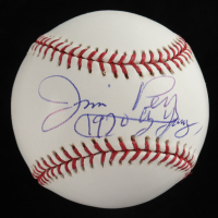 "Jim Perry Signed OML Baseball With Display Case Inscribed ""1970 CY Young"" (PSA COA - Graded 10) at PristineAuction.com"