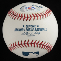 """Jim Perry Signed OML Baseball With Display Case Inscribed """"1970 CY Young"""" (PSA COA - Graded 10) at PristineAuction.com"""