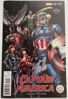 "Stan Lee Signed 2016 ""Captain America: Road to War"" Issue #11 El Capitan Theatre Variant Marvel Comic Book (Lee COA) at PristineAuction.com"