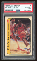 Michael Jordan 1986-87 Fleer Stickers #8 RC (PSA 8) (ST) at PristineAuction.com