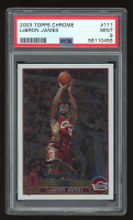 LeBron James 2003-04 Topps Chrome #111 RC (PSA 9) at PristineAuction.com