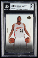 LeBron James 2003 Upper Deck LeBron James Box Set #12 / Willing and Able (BCCG 10) at PristineAuction.com