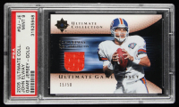 John Elway 2005 Ultimate Collection Game Jersey Gold #GJJE (PSA 9) at PristineAuction.com