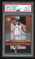LeBron James 2003-04 Upper Deck Rookie Exclusives Autographs #A1 (PSA Encapsulated) at PristineAuction.com