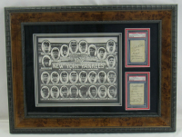 1932 Yankees 20x26 Custom Framed Cut Display Signed by (14) With Babe Ruth, Lou Gehrig, Dixie Walker (PSA Encapsulated) at PristineAuction.com