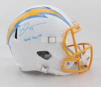 "Derwin James Signed Chargers Full-Size Speed Helmet Inscribed ""Head Hunter"" (Beckett Hologram) at PristineAuction.com"