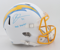 """Derwin James Signed Chargers Full-Size Speed Helmet Inscribed """"Head Hunter"""" (Beckett Hologram) (See Description) at PristineAuction.com"""