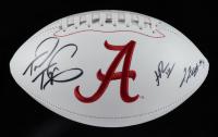 Tua Tagovailoa, Najee Harris & Jerry Jeudy Signed Alabama Crimson Tide Logo Football (Beckett Hologram) at PristineAuction.com