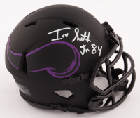 Irv Smith Jr. Signed Vikings Eclipse Alternate Speed Mini Helmet (Beckett COA) at PristineAuction.com