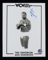 "Arn Anderson Signed WWE 8x10 Photo Inscribed ""4"" (Pro Player Hologram) at PristineAuction.com"