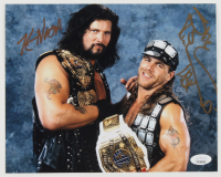 "Kevin Nash & Shawn Michaels Signed WWE 8x10 Photo Inscribed ""HBK"" (JSA COA) at PristineAuction.com"