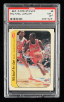 Michael Jordan 1986-87 Fleer Stickers #8 (PSA 7) at PristineAuction.com