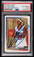 Louis Williams Signed 2005-06 Topps Total #327 RC (PSA Encapsulated) at PristineAuction.com