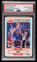 Steve Kerr Signed 1990-91 Fleer #34 (PSA Encapsulated) at PristineAuction.com