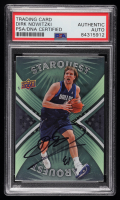 Dirk Nowitzki Signed 2008-09 Upper Deck First Edition Starquest Green #SQ24 (PSA Encapsulated) at PristineAuction.com
