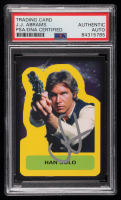 J.J. Abrams Signed Han Solo 2015 Star Wars Journey to The Force Awakens Character Stickers #S2 (PSA Encapsulated) at PristineAuction.com