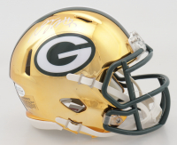 Davante Adams Signed Packers Chrome Speed Mini Helmet (Beckett COA) at PristineAuction.com