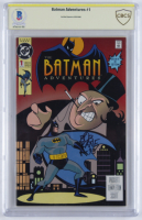 "Bob Kane signed 1992 ""The Batman Adventures"" Issue #1 DC Comic Book Inscribed ""93"" (CBCS Encapsulated) at PristineAuction.com"