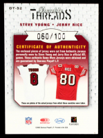 Steve Young / Jerry Rice 2003 Leaf Limited Double Threads #DT32 at PristineAuction.com