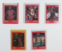 Set of (5) Michael Jordan 1991 Star Promo Sets #1-5 at PristineAuction.com