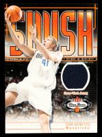 Dirk Nowitzki 2002-03 Fleer Box Score Dish and Swish Memorabilia #14 Jersey at PristineAuction.com