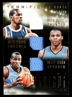 Kevin Durant / Russell Westbrook / Serge Ibaka 2013-14 Panini Intrigue Terrific Trios #11 at PristineAuction.com