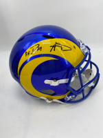"Aaron Donald Signed Rams Full-Size Speed Helmet Inscribed ""3X DPOY"" (JSA COA) at PristineAuction.com"
