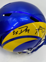 """Aaron Donald Signed Rams Full-Size Speed Helmet Inscribed """"3X DPOY"""" (JSA COA) at PristineAuction.com"""